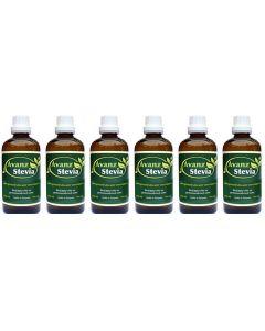 Avanz Stevia 6-pak 6x 100ml zoetmiddel druppels