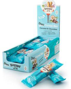 Bazqet Muesli Duo Coconut & Chocolate reep 24 gram