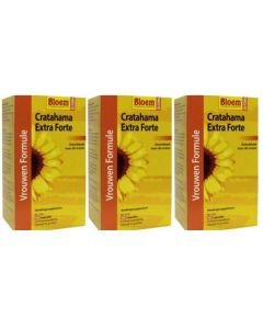 Bloem Cratahama Extra Forte Overgang trio-pak 3x 100 capsules