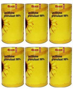 Bloem Lecithine Granulaat 98% zes-pak 6x 400 gram