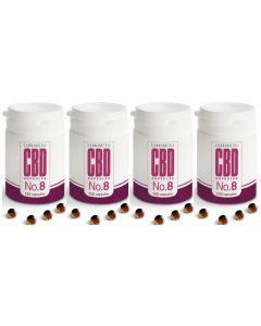 Cannamedic no.8 CBD 3mg vier-pak 4x 100 capsules