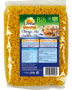 Cereal biologische glutenvrije Elleboogjes Mais 500 gram