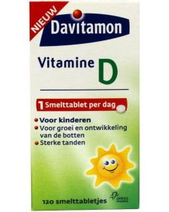 Davitamon Vitamine D Kind 120 smelttabletten