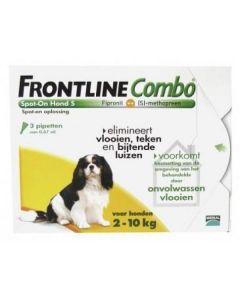 Frontline Combo Spot-On Hond S voor honden tussen 2-10 kg