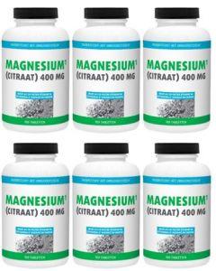 Gezonderwinkelen Magnesium Citraat 400mg zes-pak 6x180 tabletten