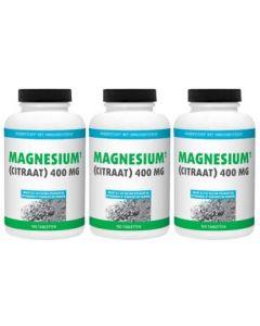 Gezonderwinkelen Magnesium Citraat 400mg trio-pak 3x180 tabletten
