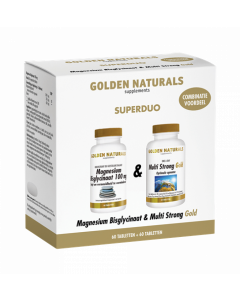 Golden Naturals Duoset magnesium bisglycinaat + multi strong gold 120tb