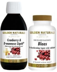 Golden Naturals Cranberry (voorheen Blaasschoon) Liquid 250ml + Blaas 90 tabletten