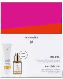 "Hauschka Set ""Stralend"" bevat Rozencreme Light 30ml & Gezichtslotion 30ml"
