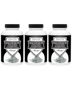 Health Food Magnesium Citraat drie-pak 3x 180 capsules