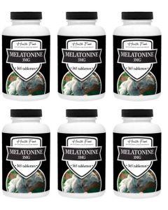 Health Food Super Melatonine 3mg zes-pak 6x 365 tabletten (stuntprijs, op=op!)