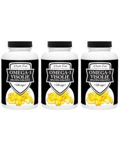 Health Food Visolie 1.000mg 18/12% EPA/DHA drie-pak 3x 120 capsules (actie)