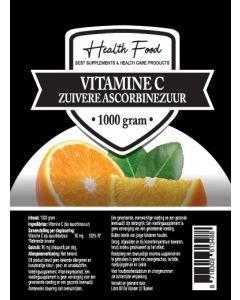 Health Food Zuivere Vitamine C poeder 100% 1000 gram (Ascorbinepoeder)