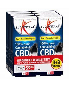 Lucovitaal CBD Olie 6-pak (3+3 gratis) 6 x 10 ml