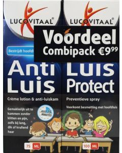 Lucovitaal Anti Luis (behandeling) 75 ml + Luis Protect (preventieve spray) 100 ml