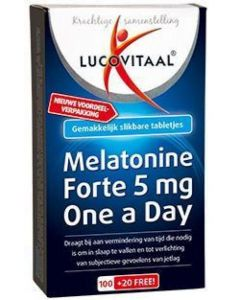 Lucovitaal Melatonine Forte 5 mg One a Day 120 tabletten