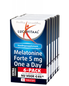 Lucovitaal Melatonine Forte 5 mg One a Day 6-pack 6x30 tabletten