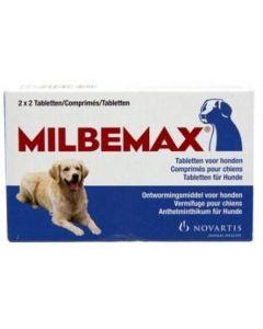 Milbemax Ontwormingstabletten voor grote honden 2 x 2 tabletten