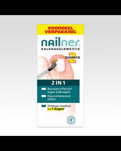 Nailner Repair tegen kalknagels Kwast 2 in 1 Duo 10 ml