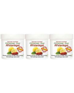Natusor Citroensapkuur Afslankgel trio-pak 3x 250 ml