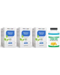 New Care Magnesium trio-pak 3x 120 capsules + Gratis Gezonderwinkelen Visolie 1.000mg 120 capsules