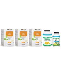 New Care Multi trio-pak 3x 120 tabletten + Gratis Gezonderwinkelen Visolie 120 capsules & Vitamine D 75mcg 200 capsules