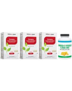 New Care Overgang trio-pak 3x 60 capsules + Gratis Gezonderwinkelen Visolie 1.000mg 120 capsules
