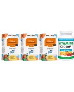 New Care Vitamine Villa Pardoes Vitamine D3 75mcg trio-pak 3x 100 capsules + gratis Gezonderwinkelen.nl Vitamine C 1.000mg 250 tabletten