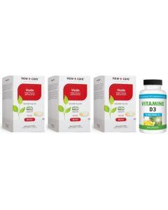 New Care Visolie trio-pak 3x 120 capsules + Gratis Gezonderwinkelen Vitamine D 75mcg 200 capsules