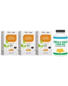 New Care Vitamine D3 75mcg 3x100 capsules + Gratis Gezonderwinkelen Visolie 120 capsules