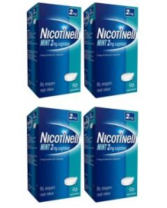 Nicotinell Mint 2 mg 4-pak 4x96 zuigtabletten