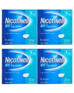 Nicotinell Mint 1 mg 4-pak 4x204 zuigtabletten