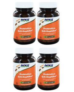 Now Probiotica Gr8-Dophilus vier-pak 4x 60 vegicaps