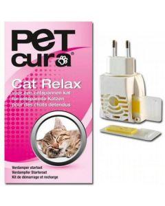 Pet Cura Cat Relax Verdamper set inclusief navulling