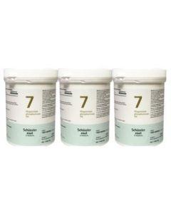 Pfluger Magnesium phosphoricum 7 D6 Schussler trio-pak 3x 1000 tabletten
