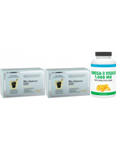 Pharma Nord Bio quinon Q10 gold 100 mg duo-pak 2x 150 capsules & gratis Gezonderwinkelen Visolie 1.000mg 120 capsules