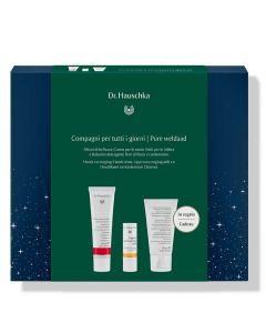 Dr. Hauschka Pure Weldaad kadodoos: Handcrème 30ml, Lippenverzorgingsstift en Cleanser 30ml (op=op)