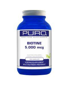 Puro Biotine 5.000mcg 180 capsules (ook wel vitamine B8 genoemd)