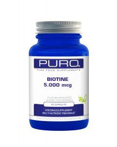 Puro Biotine 5.000mcg 60 capsules (ook wel vitamine B8 genoemd)