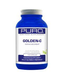 Puro Golden C 100 capsules (goed opneembaar, maagvriendelijke vitamine C)