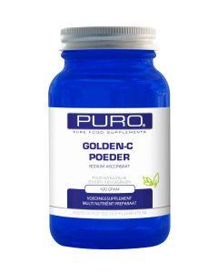 Puro Golden C 100 gram poeder (goed opneembaar, maagvriendelijke vitamine C)