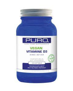 Puro Vitamine D3 25mcg & MCT Olie Vegan 120 capsules