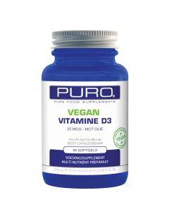 Puro Vitamine D3 25mcg & MCT Olie Vegan 60 capsules