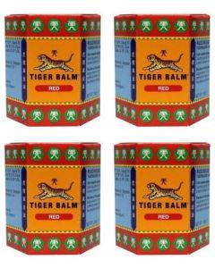 Tygerbalsem Rood vier-pak 4x 30 gram ( tijgerbalsem)