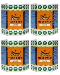 Tygerbalsem Wit vier-pak 4x 30 gram ( tijgerbalsem)