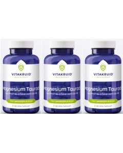 Vitakruid Magnesium Tauraat met P-5-P triopak 3x 100 capsules (= 300 capsules)