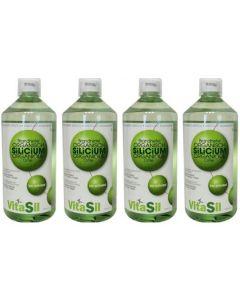Vitasil Organisch Silicium Brandnetel vier-pak 4x 1000 ml