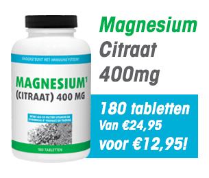 Gezonderwinkelen magnesium citraat 400mg 180 tabletten